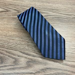 Marc Anthony Black & Blue Stripe Skinny Tie